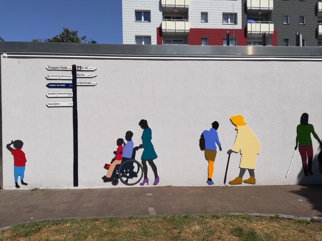 Fassadengestaltung durch Lebenshilfe Oberhausen