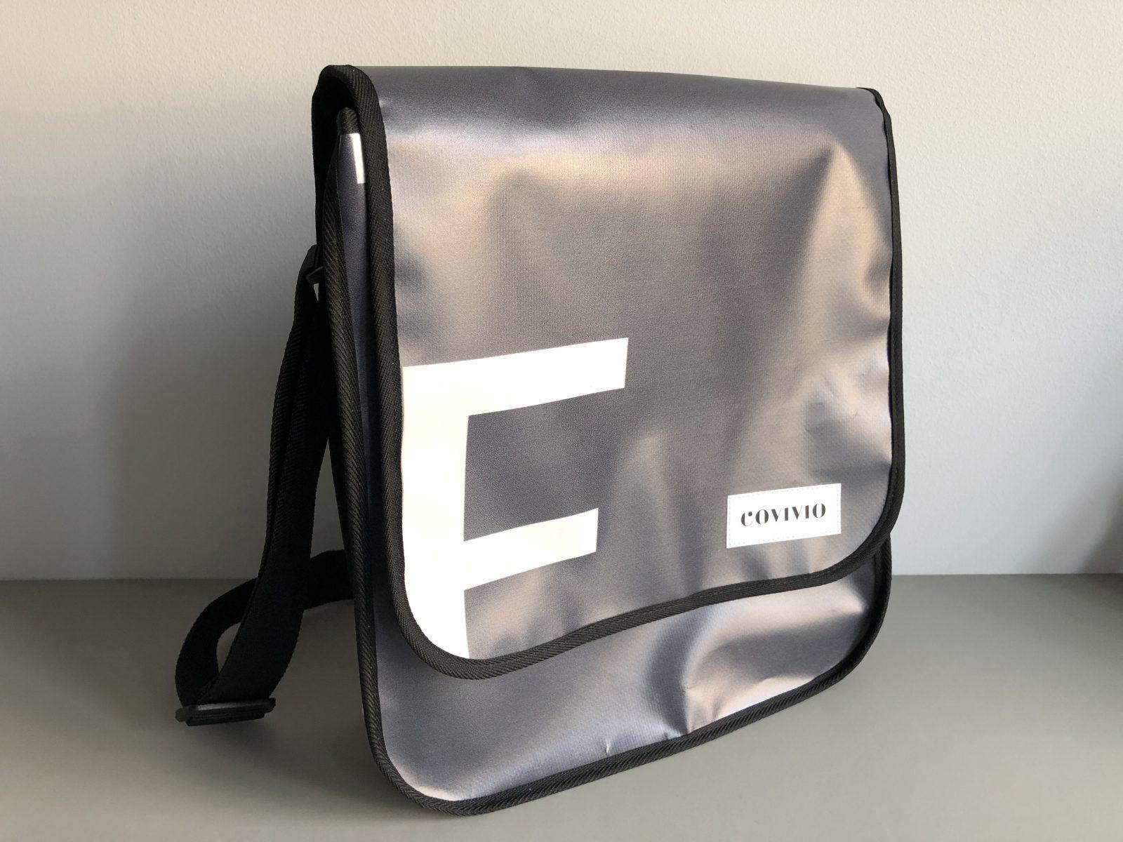 Nachhaltigkeit bei Covivio – Aufbereitete Taschen aus Werbebannern