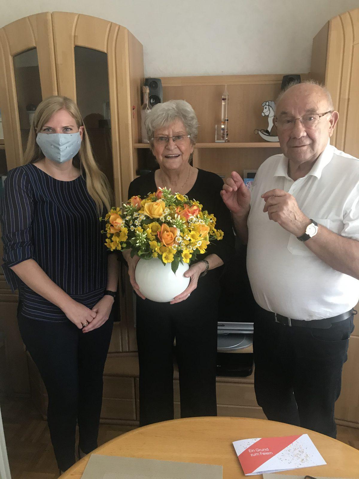 Essen: Covivio gratuliert Mietern zum 60. Hochzeitstag